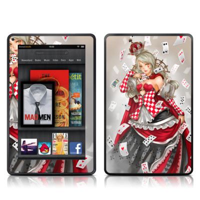 Kindle Fire Skin - Queen Of Cards