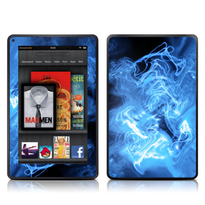 Kindle Fire Skin - Blue Quantum Waves