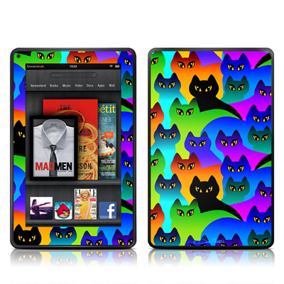 Kindle Fire Skin - Rainbow Cats