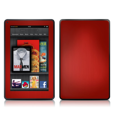 Kindle Fire Skin - Red Burst