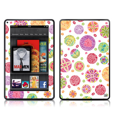 Kindle Fire Skin - Round Flowers