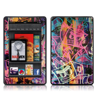 Kindle Fire Skin - Robot Roundup