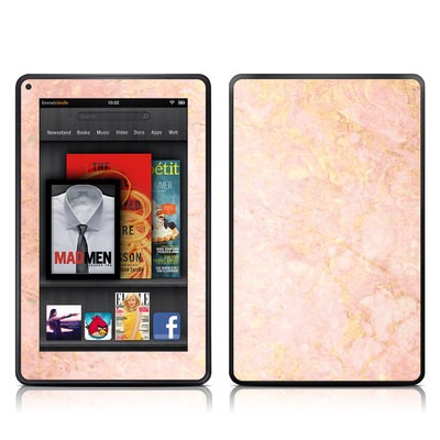 Kindle Fire Skin - Rose Gold Marble
