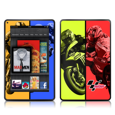 Kindle Fire Skin - Race Panels
