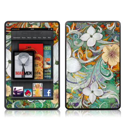 Kindle Fire Skin - Sangria Flora