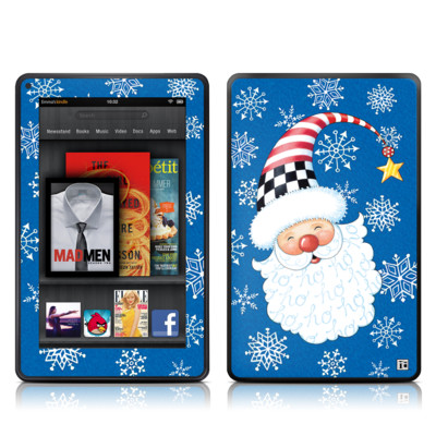 Kindle Fire Skin - Santa Snowflake