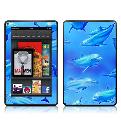 Kindle Fire Skin - Swimming Dolphins