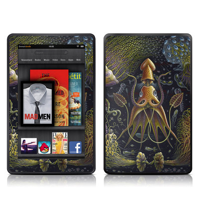 Kindle Fire Skin - Sea Flowers
