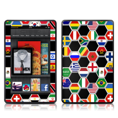 Kindle Fire Skin - Soccer Flags