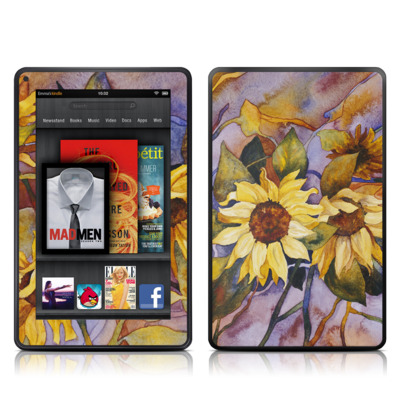 Kindle Fire Skin - Sunflower