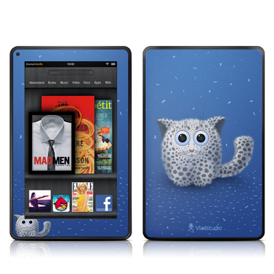 Kindle Fire Skin - Snow Leopard