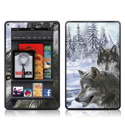 Kindle Fire Skin - Snow Wolves