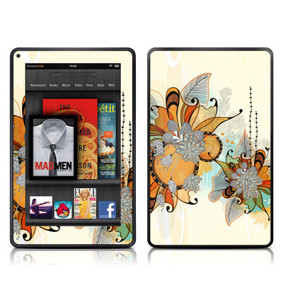 Kindle Fire Skin - Sunset Flowers
