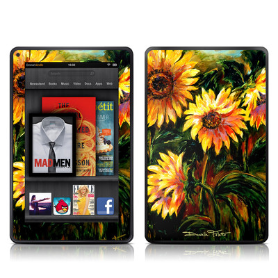 Kindle Fire Skin - Sunflower Sunshine