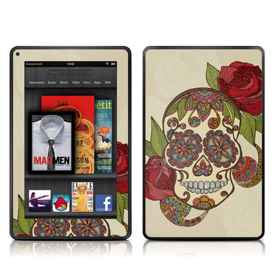 Kindle Fire Skin - Sugar Skull