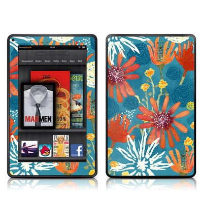 Kindle Fire Skin - Sunbaked Blooms