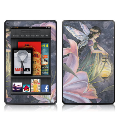 Kindle Fire Skin - Twilight Lilies