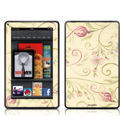 Kindle Fire Skin - Tulip Scroll