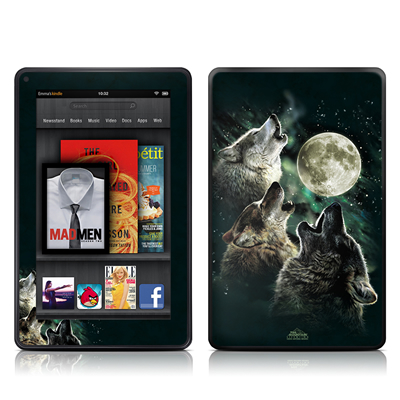 Kindle Fire Skin - Three Wolf Moon