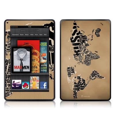 Kindle Fire Skin - Type Map