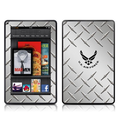 Kindle Fire Skin - USAF Diamond Plate