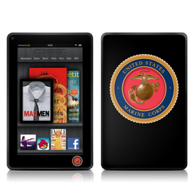 Kindle Fire Skin - USMC Black