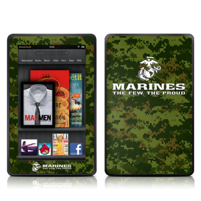 Kindle Fire Skin - USMC Camo