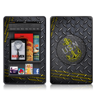 Kindle Fire Skin - USN Diamond Plate