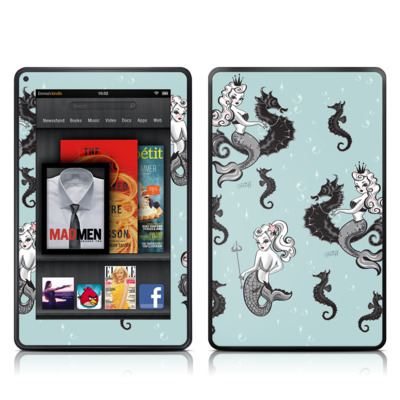 Kindle Fire Skin - Vintage Mermaid