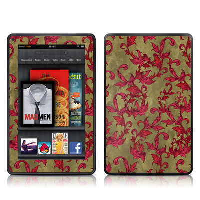 Kindle Fire Skin - Vintage Scarlet