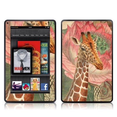 Kindle Fire Skin - Whimsical Giraffe