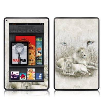 Kindle Fire Skin - White Lion