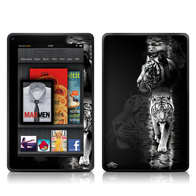 Kindle Fire Skin - White Tiger