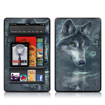 Kindle Fire Skin - Wolf Reflection