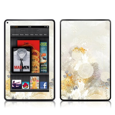 Kindle Fire Skin - White Velvet
