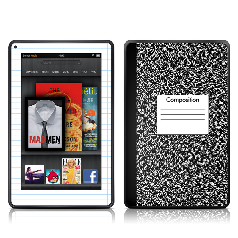 Kindle Fire Skin - Composition Notebook