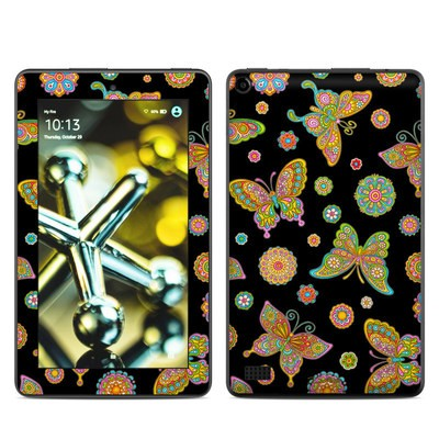 Amazon Kindle Fire 5th Gen Skin - Butterfly Flowers