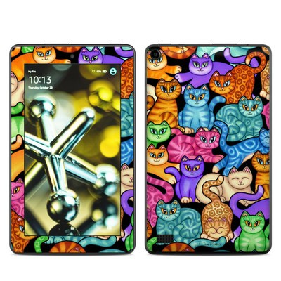 Amazon Kindle Fire 5th Gen Skin - Colorful Kittens