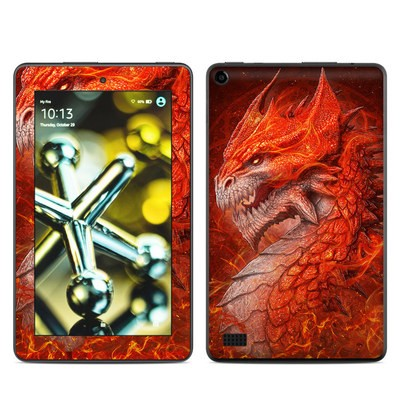 Amazon Kindle Fire 5th Gen Skin - Flame Dragon