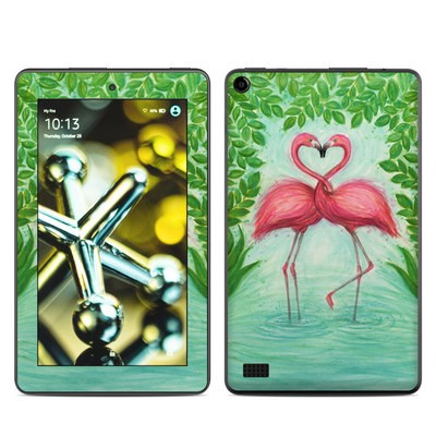 Amazon Kindle Fire 5th Gen Skin - Flamingo Love