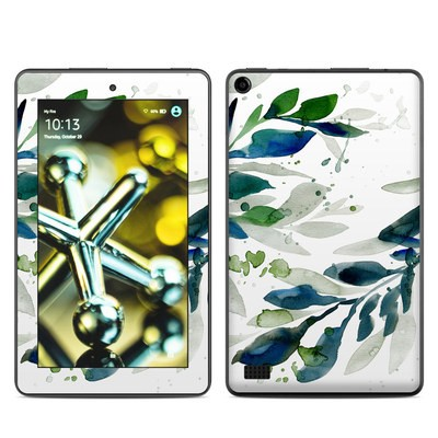 Amazon Kindle Fire 5th Gen Skin - Floating Leaves