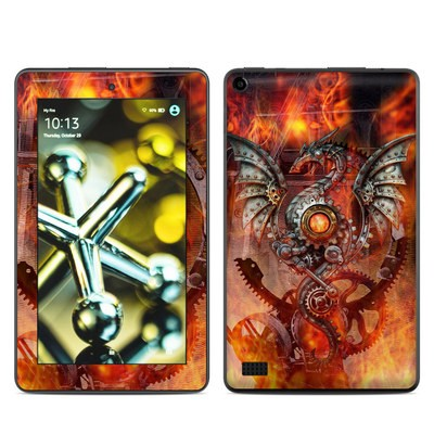 Amazon Kindle Fire 5th Gen Skin - Furnace Dragon