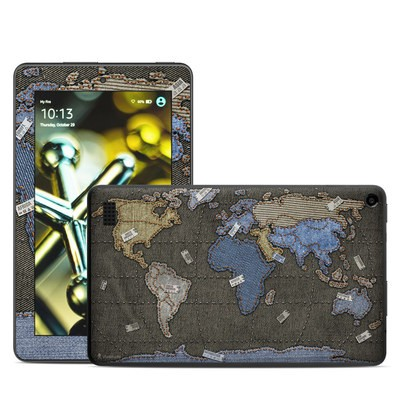 Amazon Kindle Fire 5th Gen Skin - Jean Map