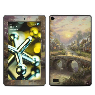 Amazon Kindle Fire 5th Gen Skin - Sunset On Lamplight Lane