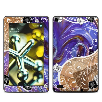Amazon Kindle Fire 5th Gen Skin - Purple Waves