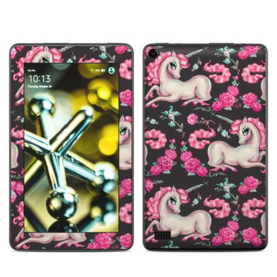 Amazon Kindle Fire 5th Gen Skin - Unicorns and Roses