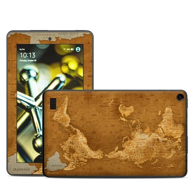 Amazon Kindle Fire 5th Gen Skin - Upside Down Map