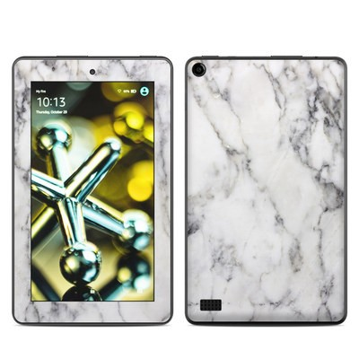 Amazon Kindle Fire 5th Gen Skin - White Marble