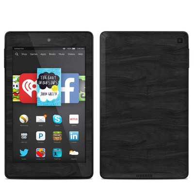 Amazon Kindle Fire HD 6in Skin - Black Woodgrain