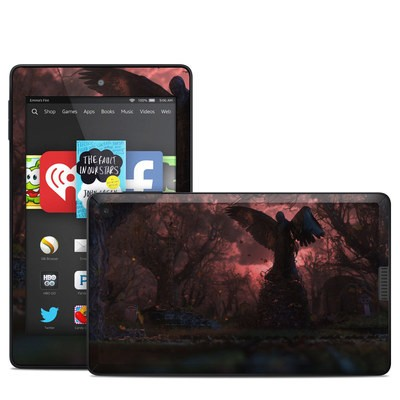 Amazon Kindle Fire HD 6in Skin - Black Angel